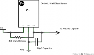 Hall Effect Circuit Schematic